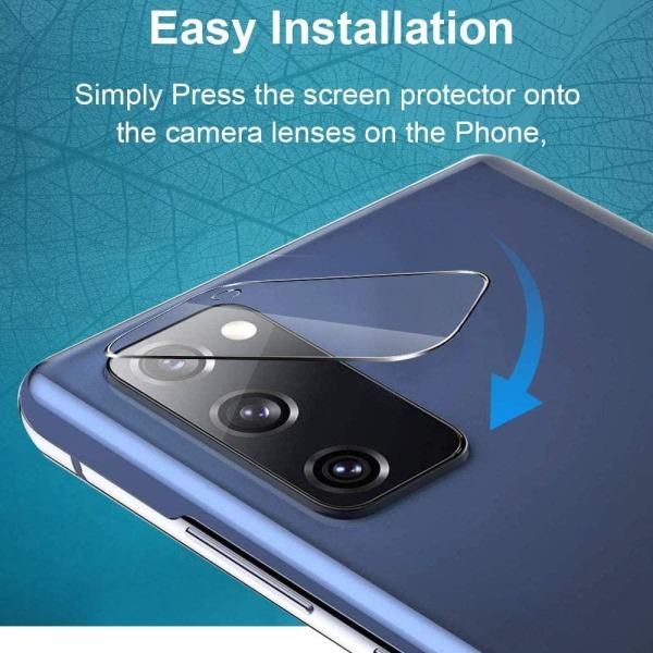 3-pack C4U® Kamera linsskydd i härdat glas för Galaxy S20 FE 5G Transparent