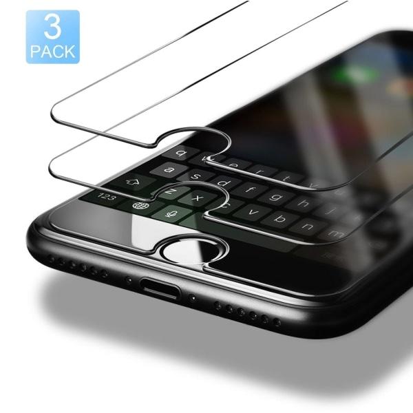 3-pack ®C4U Extra Stark Härdat Glas Skärmskydd för iPhone 8/ 7
