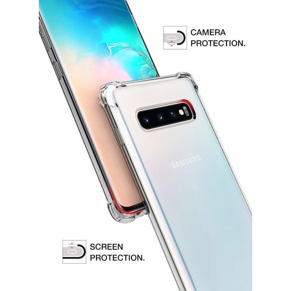 C4U® Galaxy S10 ShockClear - Slimmat genomskinligt skal
