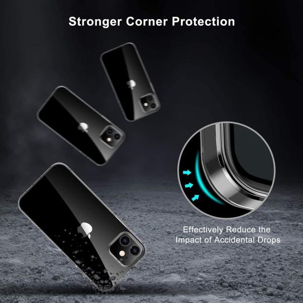 C4U® iPhone 12 Mini 5.4 TPU Protection - Slimmat skal 1.5mm Transparent iPhone 12 Mini
