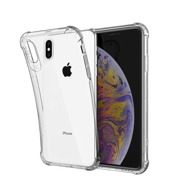C4U® iPhone X/XS Shockproof - Slimmat genomskinligt skal iphone xs