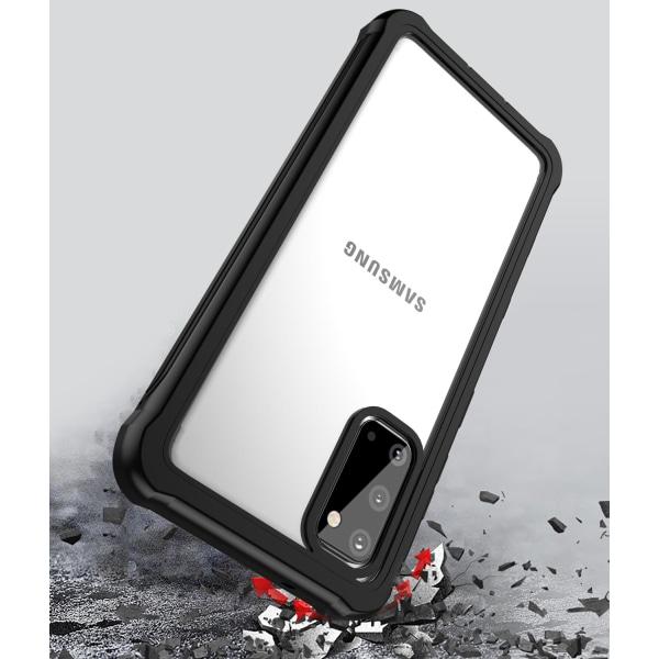 C4U® Shockproof Defence - Galaxy S20  - Stötdämpande skal 3i1 Svart