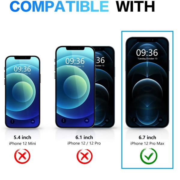 C4U® Shockproof Defence - iPhone 12 Pro Max - Stötdämpande skal  Black