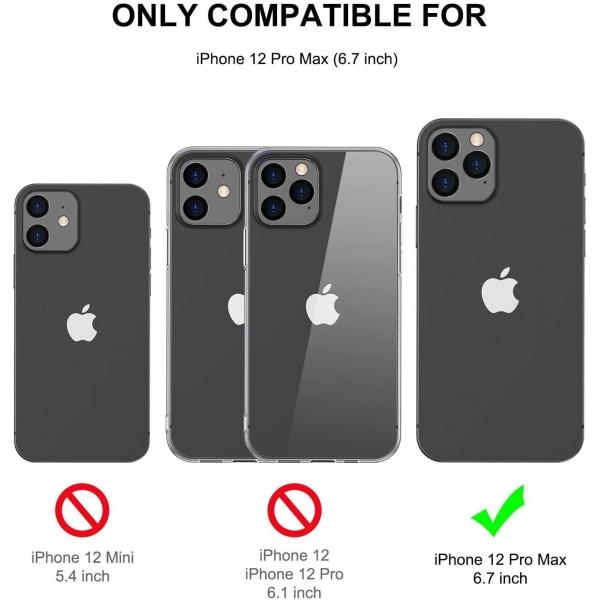 C4U® skal för iPhone 12 Pro Max TPU Protection - Slimmat 1.5mm Transparent iPhone 12 Pro Max
