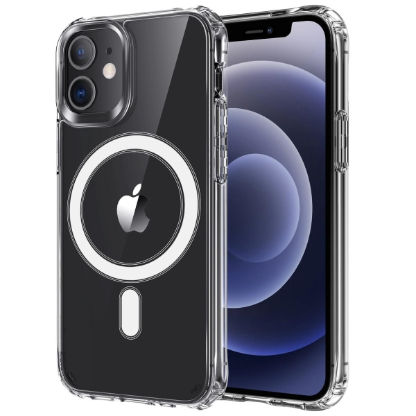 C4U® skal Magsafe för iPhone 12 / 12 Pro Stötdämpande Qi laddnin Transparent iPhone 12 / 12 Pro