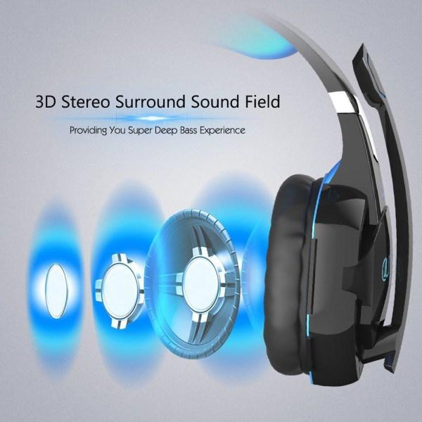 Gaming headset hörlurar C4U® G2000 Mic för Playstation 4 / Ps4 P Svart