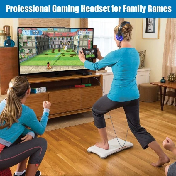 Gaming headset hörlurar C4U® G9000 för Playstation 4 / PS5 PS4 Svart
