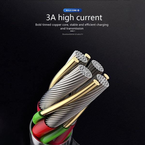 IOS 3A kabel/laddsladd/laddare snabbladdning C4U®-2m Svart