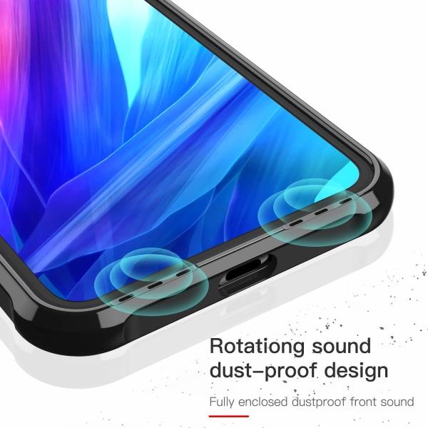 iPhone 11 Pro Max ShockBlack - Slimmat genomskinligt skal C4U® Black iphone 11 Pro Max