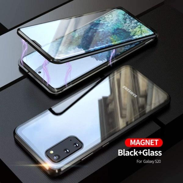 Premium Galaxy S20 Stötdämpande magnet Skal med glas C4U® Black