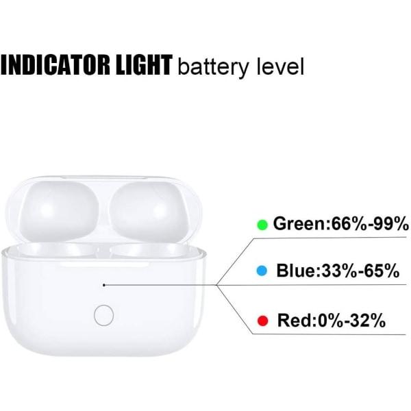 Qi Laddningsetui laddbox för AirPods Pro Bluetooth Vit