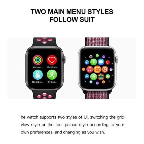 Smartklocka Smartwatch T500 vattentät - 2021 Modellen Svart
