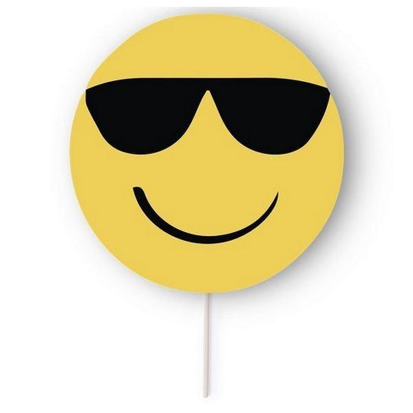 Pai pai-solfjäder Emoji 145406 (18 x 27 cm) Leende