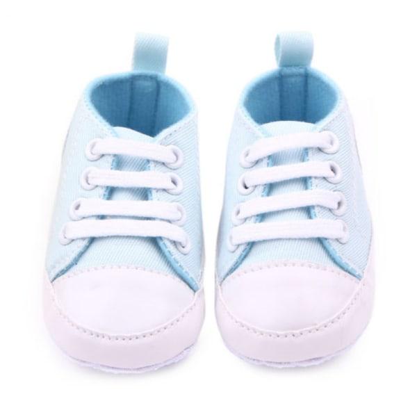 0-12M Nyfödda Småbarnsduk Sneakers Mjuka skor First Walkers