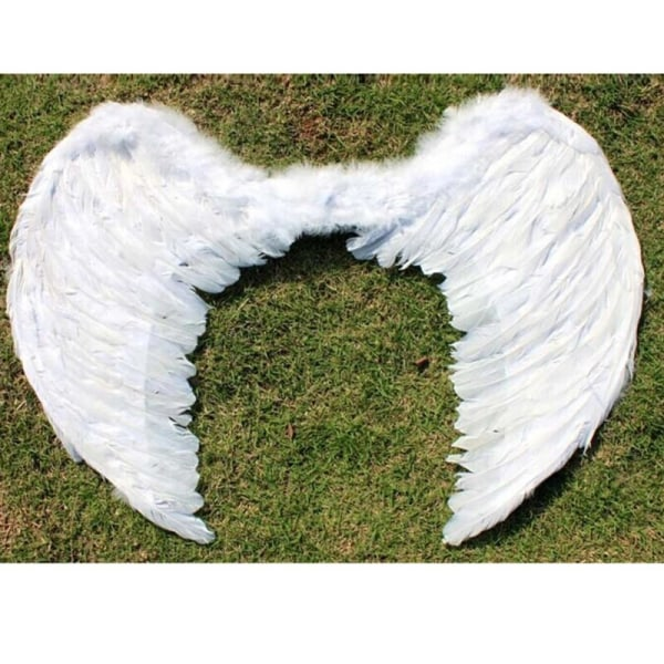 Angel Feather Wing Halloween Costume Cosplay Dress Up Children White For child as shown
