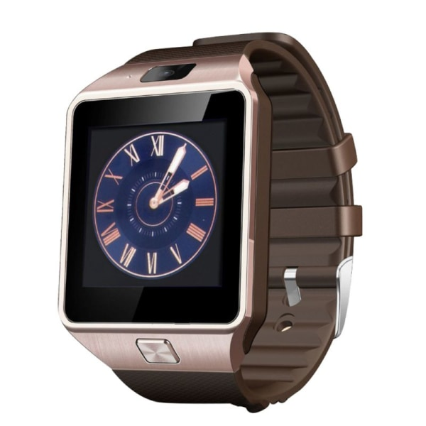 Bluetooth Smart Watch Support GSM SIM TF Card Phone Call Gold