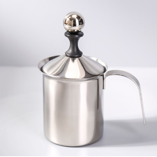 Dubbel lager filter manuell mjölkskummare kaffetillförsel