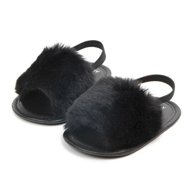 Mode Faux Fur Baby Shoes Sommar Söt pojkar flickor skor
