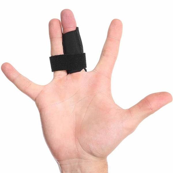 Finger Splint Wrap Anti-slip Fingers Bandage Sleeve Support Black M