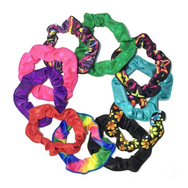 Gymnastics and Dance Hair Scrunchies Ballet Headband Flower Band 10 as shown