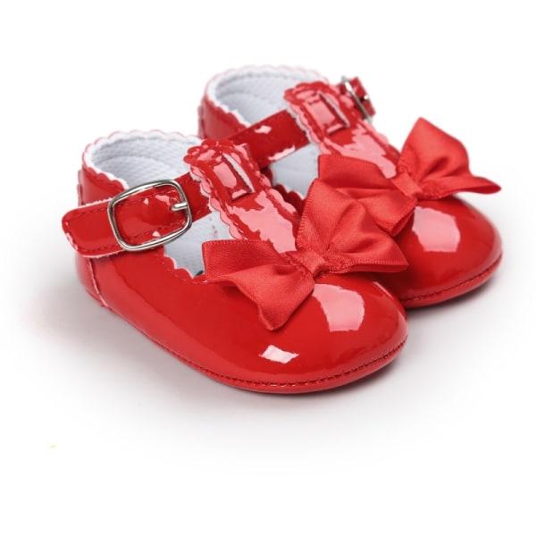 Newborn Anti-slip Crib Shoes Soft Sole Sneakers Prewalker 0-18M Red 1