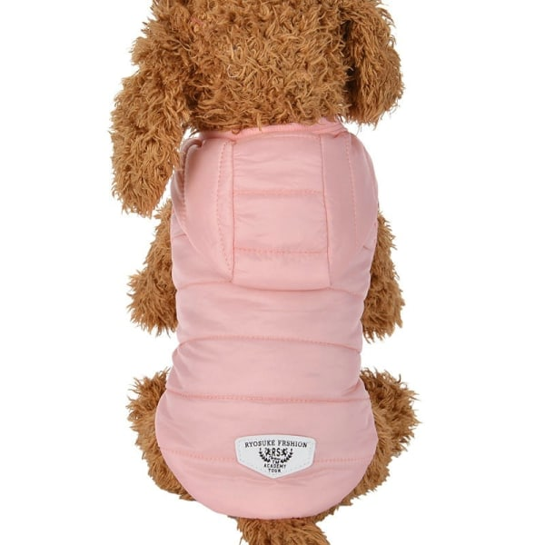 Winter Warm Pet Dog Coat Jacket Clothes Medium Large Dog Clothes Pink XS