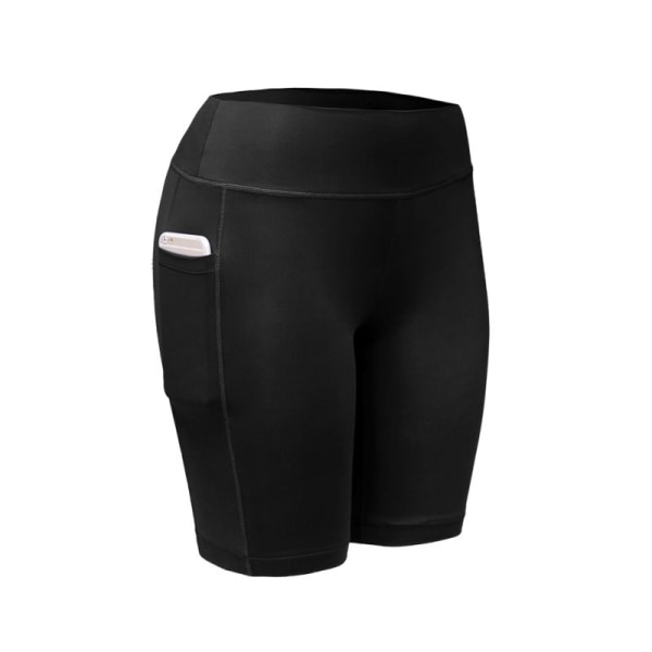 Women Compression Shorts Tights Sports Leggings Quick Dry Black S