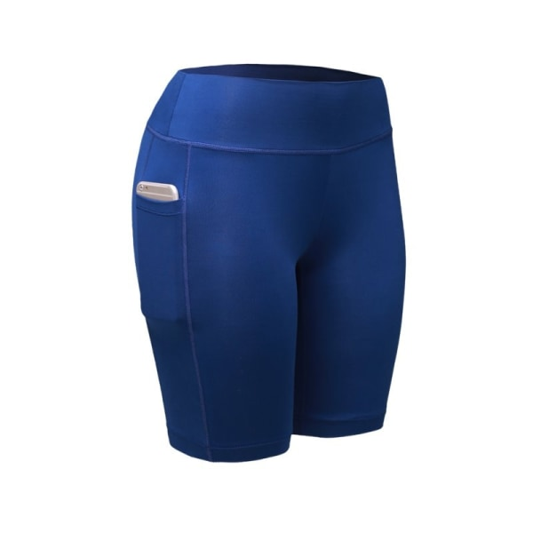 Women Compression Shorts Tights Sports Leggings Quick Dry Blue XXL