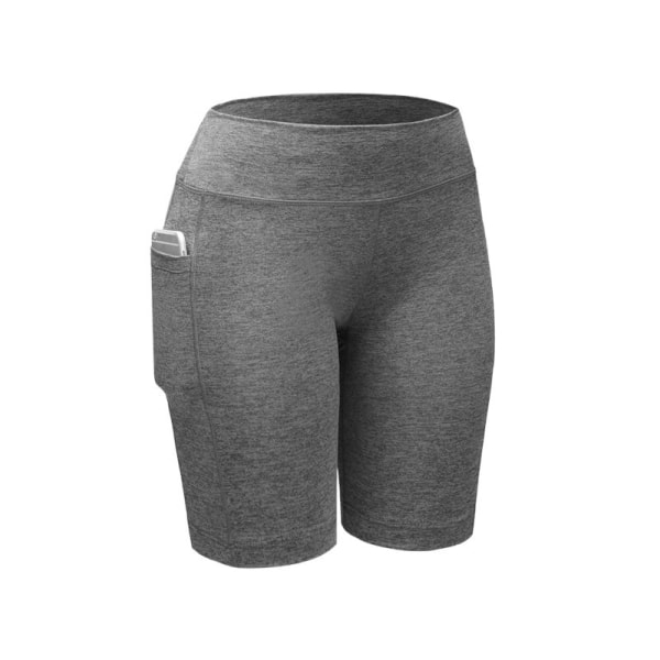 Women Compression Shorts Tights Sports Leggings Quick Dry Gray L