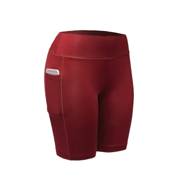 Women Compression Shorts Tights Sports Leggings Quick Dry Red M