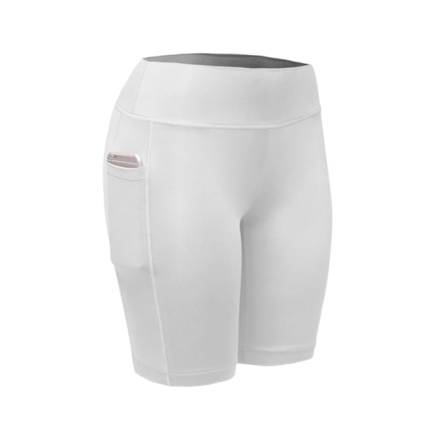 Women Compression Shorts Tights Sports Leggings Quick Dry White XXL