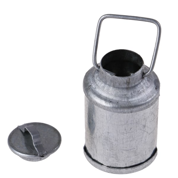 1:12 Doll House Miniature Accessories Farm Metal Milk Can Kettl