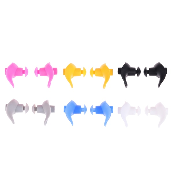 1 par mjuka silikon öronproppar öronskydd återanvändbara öronproppar