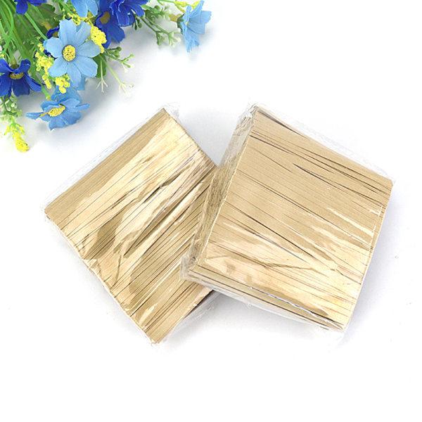 1000st 8 cm pappersvita slipsar för kaffepåsar med festbröd