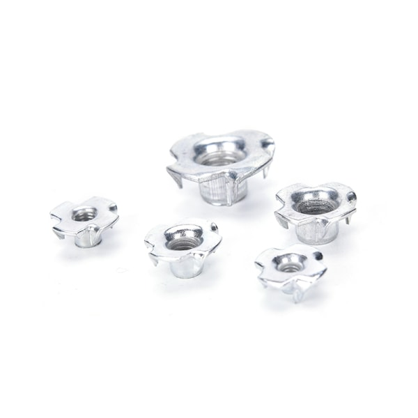 10st M6 M8 M10 Four Pronged T Nuts Captive Blind Inserts For W
