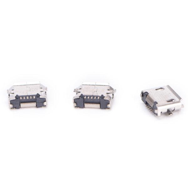 10st Micro USB 5pin B-typ honkontakt för kontakt 5 pi