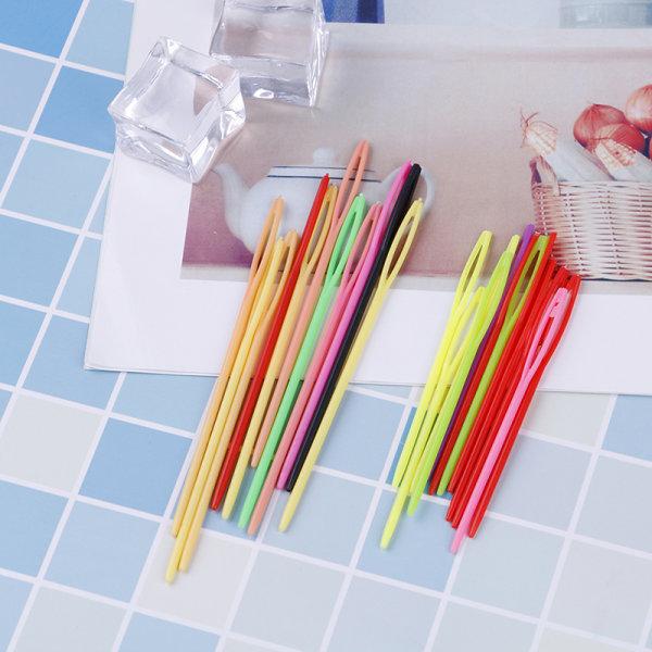 10Pcs Multicolor plastic sewing needles DIY craft accessories k 1