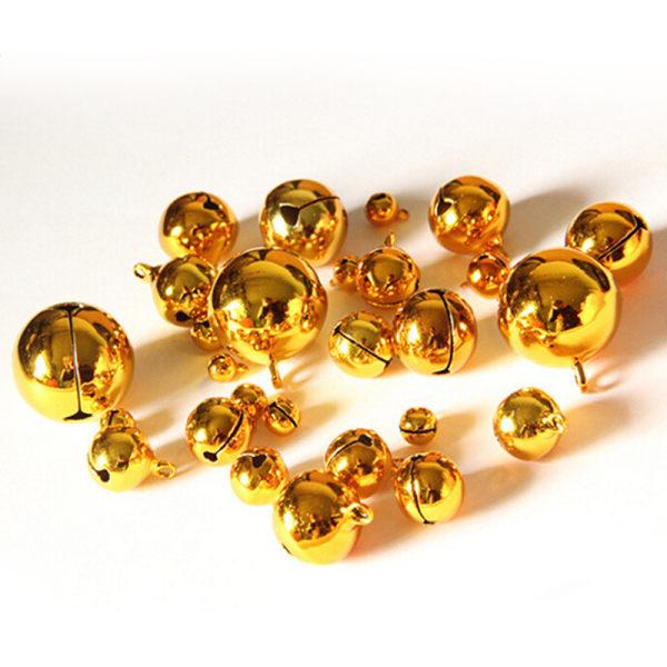 10st Litet guld Jingle Bell Copper Metal Fit Festival Smycken