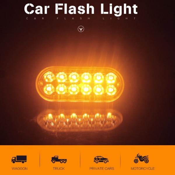 12 Led Strobe Light Kit Ultra Thin Freight Sidolampa Bar Flashi