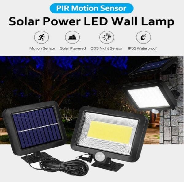 150 LED-solenergi vägglampor PIR rörelsessensor utomhus trädgård