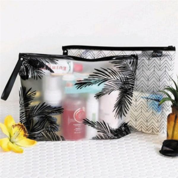 1st Pvc Makeup Zipper Pouch Pennafodral Klar kosmetisk väska