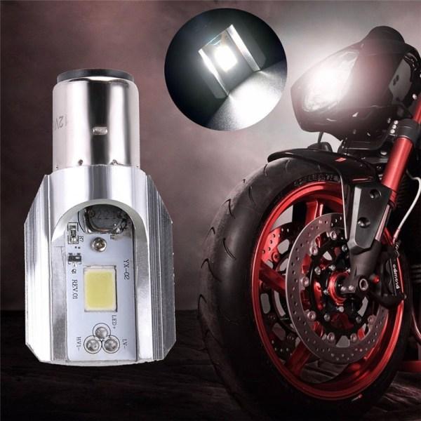 1st topp vit strålkastarlampa LED motorcykel 1x H6 BA20D DC 8V-8