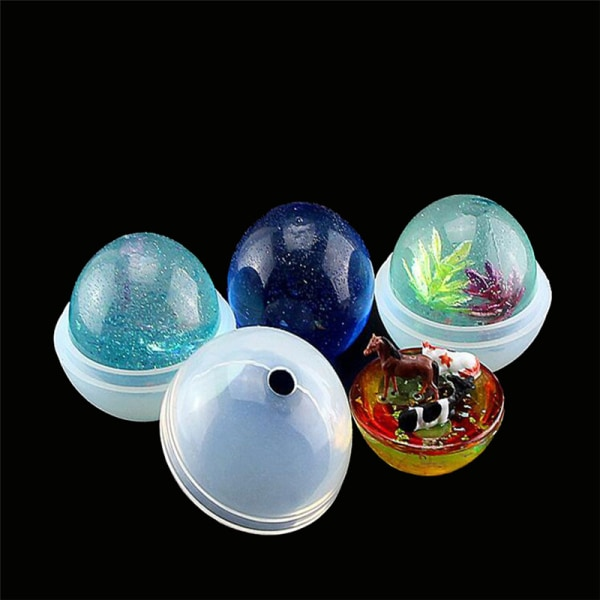 1set 3D Round Ball Silicone mold diy Making Resin Casting Mould onesize