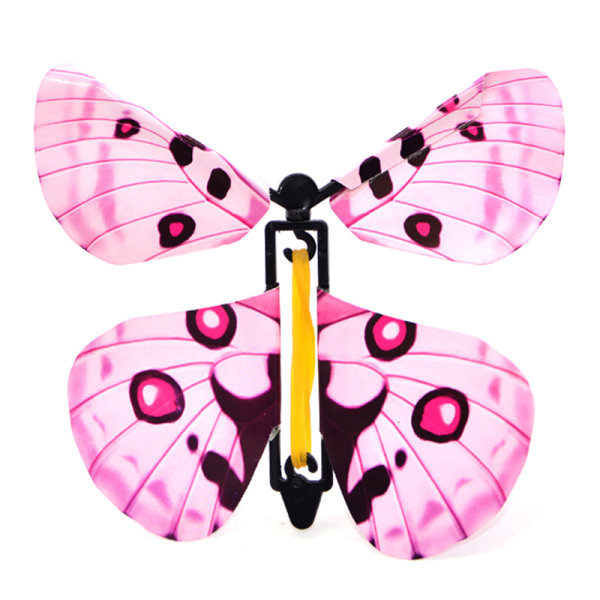2 pcs Magic flying plastic butterfly surprise birthday christma
