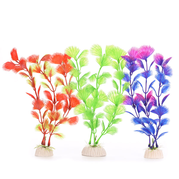 20 cm plastväxter prydnad Vatten dekoration för akvarium akvarium