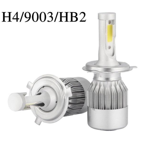2ST COB H4 C6 10800LM 36W LED-bilstrålkastarsats Hi / Lo Turbo Li