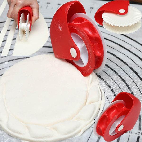 2st Kök Pizza Bakverk Gitter Cutter Pastry Pie Decor Cutte