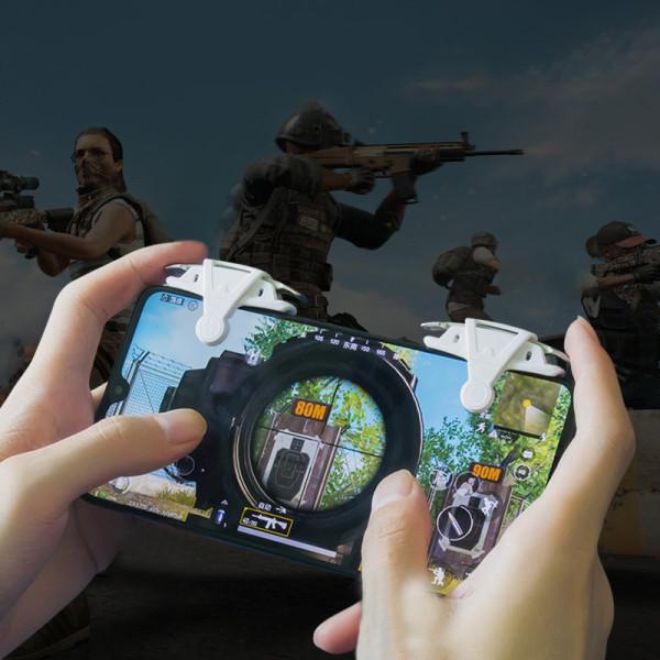 2PC Mobile Game Controller Gamepad Trigger Aim Button Joystick