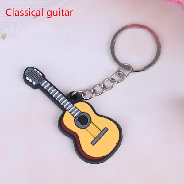 2st mjukt silikoninstrument nyckelring folkelektrisk klassisk