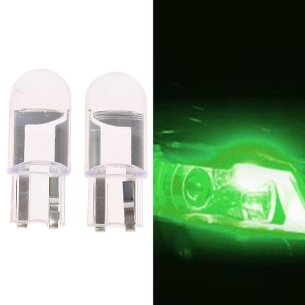 2st W5W T10 Glashus Cob LED-billampa Wedge License Plate